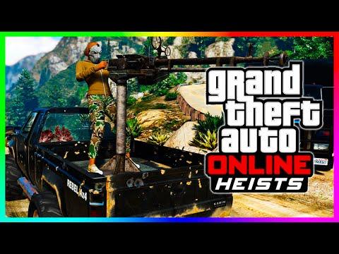 GTA 5 ONLINE HEIST VEHICLES - NEW APC Tank. Hydra Jet. Hunter Chopper & MORE! (GTA 5 Heist Cars)