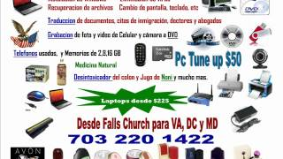 Venta de Telefonos usados Computadoras Laptops Desktops Arlington Virginia MD DC Sprinfield