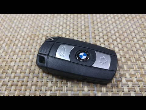 How to change / replace smart key fob Battery BMW 1. 3. 5. 7 series & X5 FCC KR55WK49147