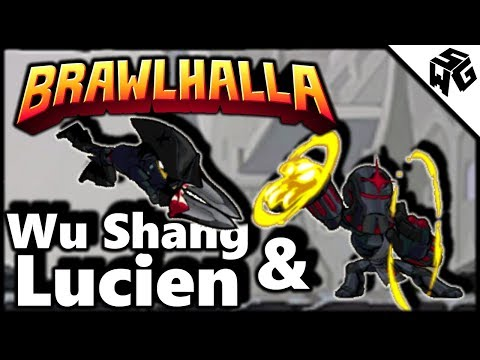 Road to Diamond Ranked Wu Shang & Lucien 1v1's - Brawlhalla Gameplay ::  Not A Good Day!