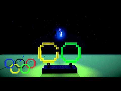 Minecraft  | Pixel Art | EP01 |  London 2012 Olympic Rings