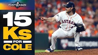 Gerrit Cole GOES OFF vs. Rays for 15 strikeouts to lead Astros to ALDS Game 2 win | ALDS Highlights
