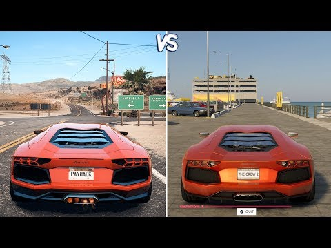 The Crew 2 vs NFS: Payback - Lamborghini Aventador Gameplay Comparison HD