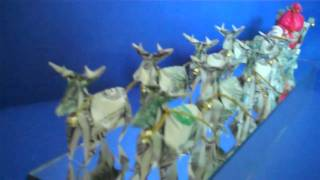 Origami Money Reindeer