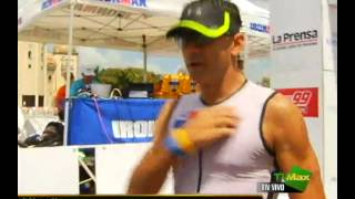 Carolina Dementiev. 1st place in IRONMAN 70,3 PANAMA (with Lance Armstrong)