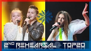 Junior Eurovision 2018 - TOP20 - After 2nd Rehearsal