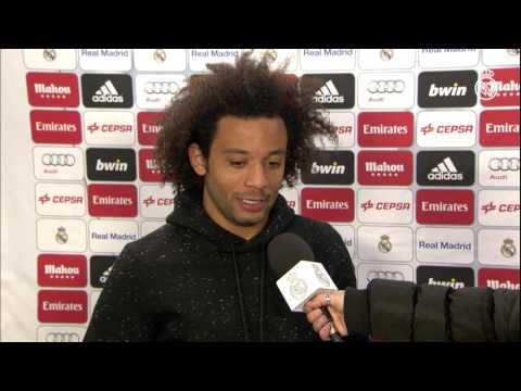 Marcelo y Danilo analizaron la victoria del Real Madrid contra el Sevilla