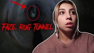 GHOST GIRL MESSED WITH US IN THE FAZE RUG TUNNEL! **CREEPY**