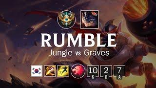 Rumble Jungle vs Graves - KR Challenger Patch 8.12
