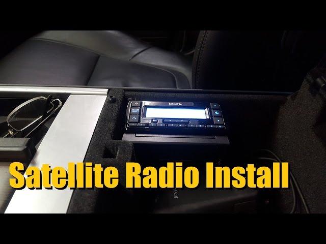 Satellite Radio Installation (SiriusXM Radio) - YouTube