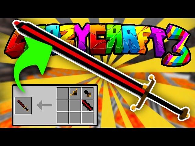 Minecraft crazy craft 3 quot making big bertha quot 19 smp server w