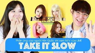 (ENG) Koreans React to LIME - Take It Slow M/V | Khoa Tieng Viet
