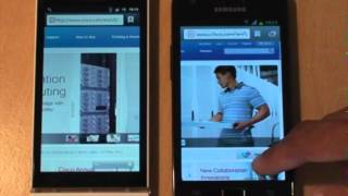 Sony Xperia S vs Samsung Galaxy S2 Browser, Speed, Rendering & Benchmark Test