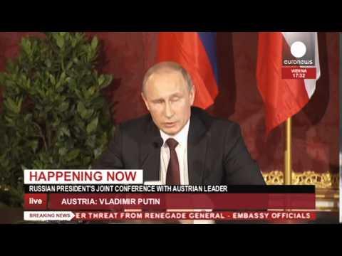 Ukraine crisis: Putin & Fischer press conference in Austria (recorded live feed)
