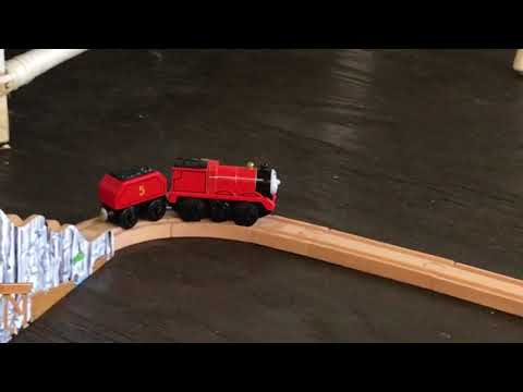 New Motorized James!! SunRoom Track Thomas and Friends, Melissa And Doug. Wooden Railway episode 3