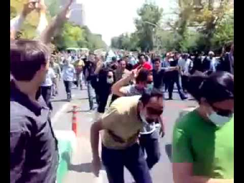 17 July 2009 post friday prayer protests in Hejab St Tehran