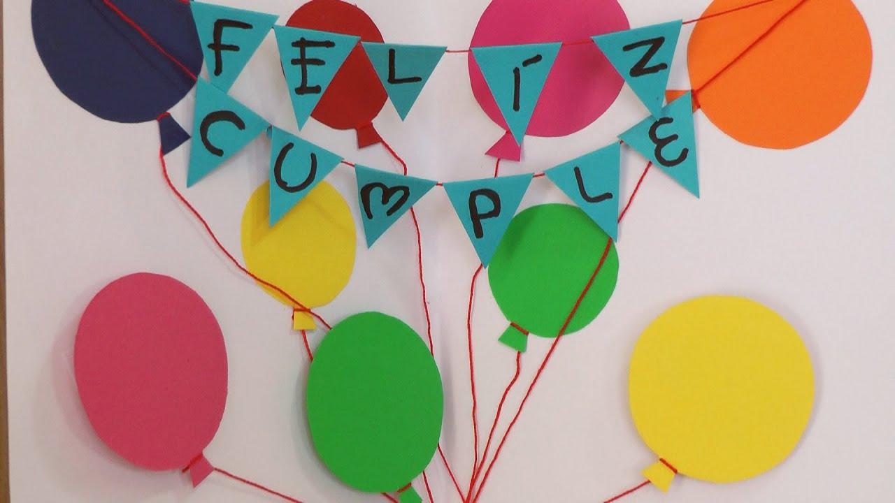 "Manualidades para regalar Tarjeta""Feliz Cumpleaños"" Manualidades para todos YouTube"