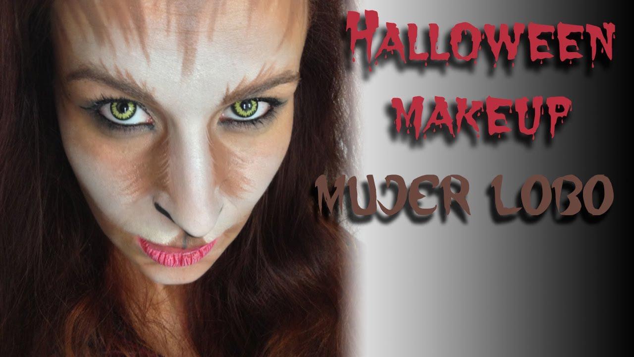 Halloween Makeup Mujer Lobo