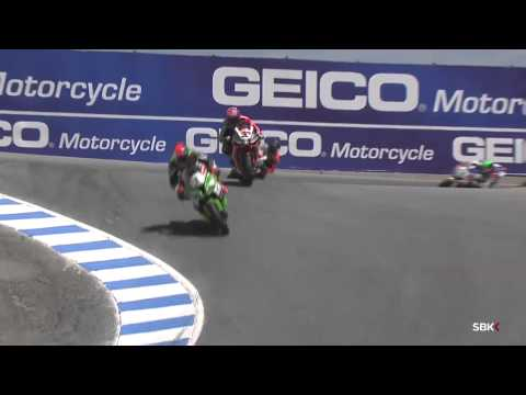 2014 WSBK Laguna Seca -- Race 2 highlights