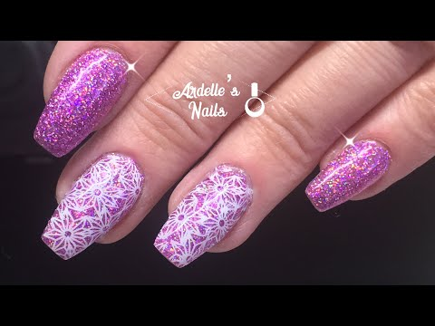 Watch Me Work/My Nails/Holo Glitter and Stamping