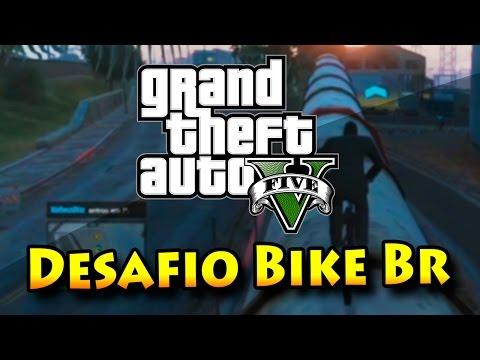 GTA V ONLINE COM MODS: DESAFIO DE BIKE BR HUE!