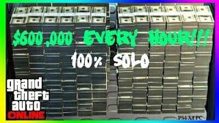 GTA Online $600,000 Per Hour 100% Solo | Solo Unlimited Money Glitch [PS4, X1, PC]
