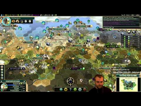 Civilization 5 Multiplayer 133: Shoshone [3/4] ( BNW 6 Player Free For All) Gameplay/Commentary