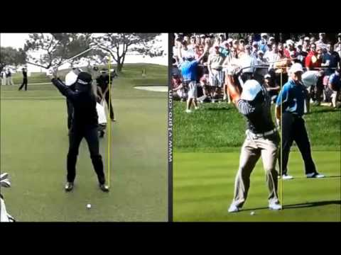Glyn Meredith - Tiger Woods v Adam Scott swing analysis using V1 Golf