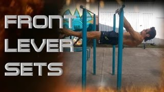 Front Lever Sets │Barras México Street Workout│