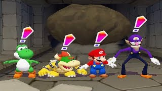 Mario Party 6 - 4 Player Minigames - Yoshi Bowser Mario Waluigi All Funny Mini Games (Master CPU)