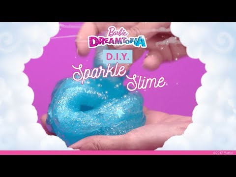 DIY Sparkle Slime | Dreamtopia | Barbie
