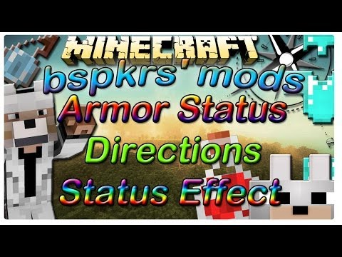 BSPKERS' Mods 1.7.2 ( Armor Status HUD. Direction HUB. and Status Effect Hud)