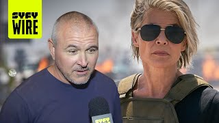 Terminator: Dark Fate's Director's Linda Hamilton Plan | SDCC 2019 | SYFY WIRE