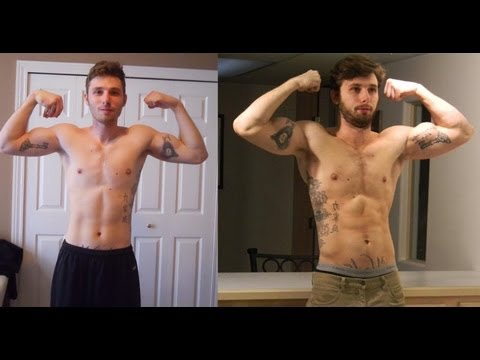 My One Year Body Transformation!!  Ectomorph to Musclemorph!!