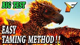 ARK EASY PHOENIX TAMING, PHOENIX ATTACKS + BIG TEST!! Ark Survival Evolved Scorched Earth Phoenix!