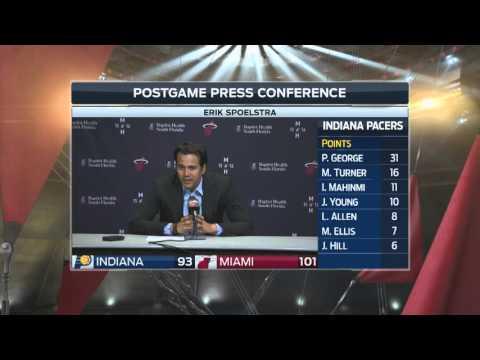 Erik Spoelstra -- Miami Heat vs. Indiana Pacers postgame 2/23/16