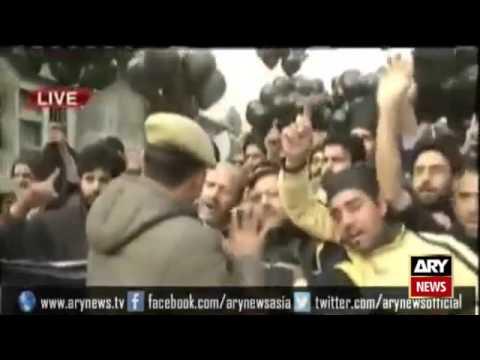 Ary News Headlines 7 November 2015  - India cracks down on Hurriyat leaders ahead of Modi visit