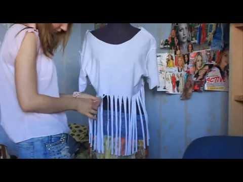 Мода в твоих руках. Как сделать стильную ажурную футболку. ;)