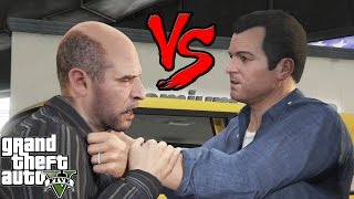 GTA V: MICHAEL VS SIMEON - BRUTAL FIGHT
