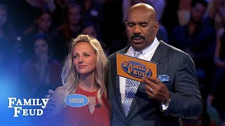 Nicki and Krissy play Fast Money! | Family Feud