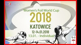 2018 Women's Foil World Cup Katowice 64 - 8 - Piste red