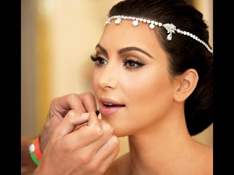 How To Apply Bridal Makeup Like A Pro : Kim Kardashian Bridal Makeup Tutorial - YouTube