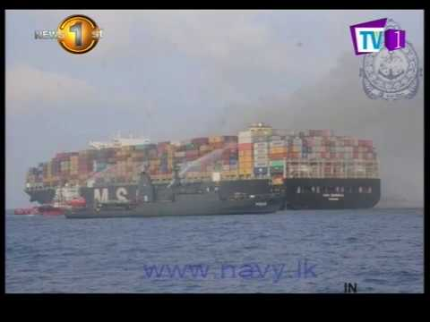 fire on msc daniela |eng