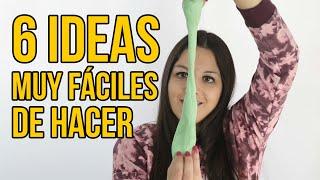6 Ideas fáciles para niños - Juegos y Experimentos (RECOPILACIÓN)