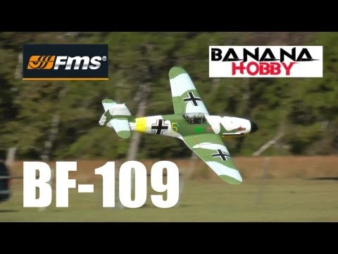 Banana Hobby / FMS Messerschmitt BF-109 Review & Build Guide By Rich Baker in HD