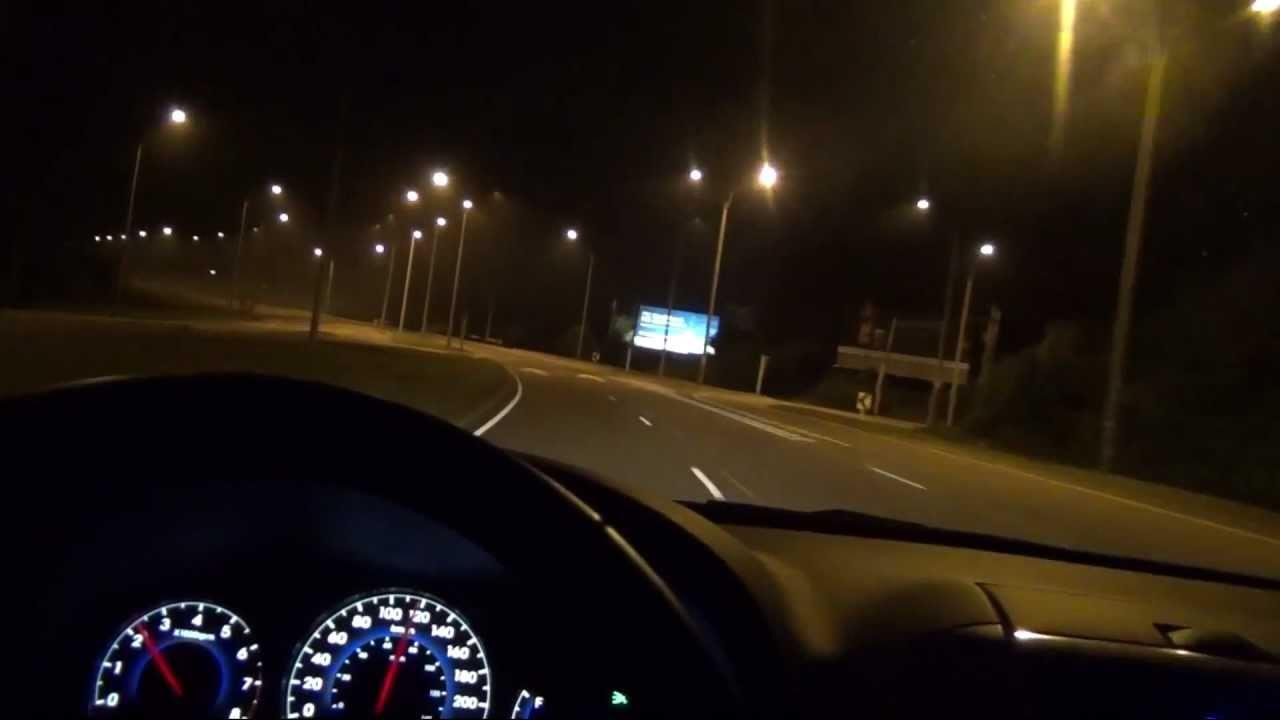 Hyundai Santa F 233 2011 Top Speed And Night Driving Youtube