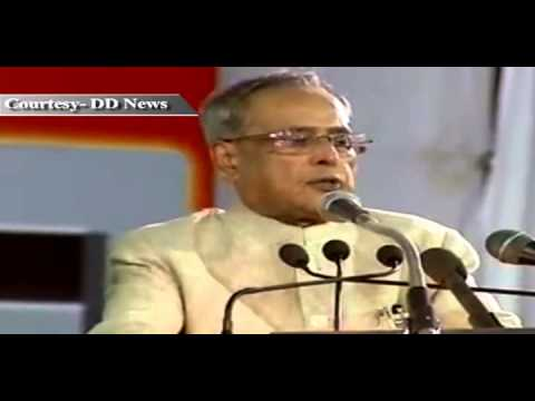 President Pranab Mukherjee at the Golden Jubilee Celebrations of Sainik School, Bijapur - Part 1