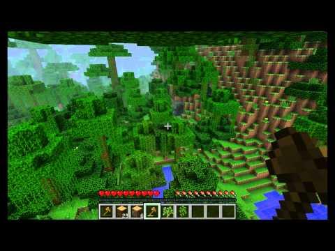 Играем в minecraft #1 Джунгли!