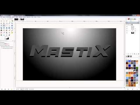 [TUTORIAL] Gimp 2.8.6 - Jak Zrobić Profesjonalny Napis (MastiX)
