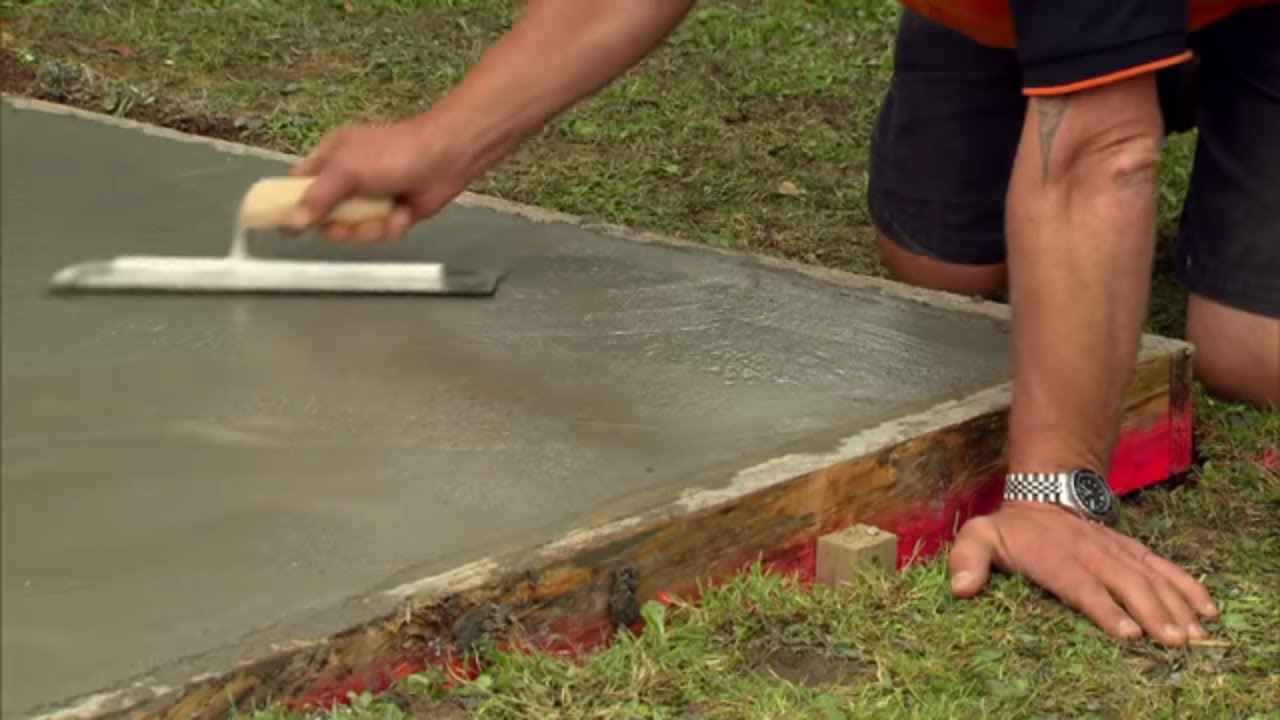 How to Lay a Concrete Pad| Mitre 10 Easy As - YouTube